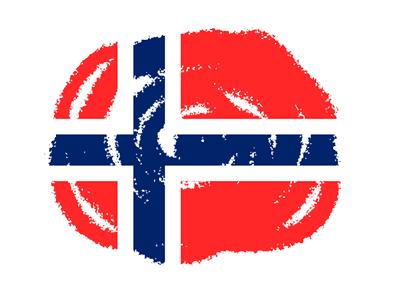 ノルウェー王国の国旗-クラヨン2