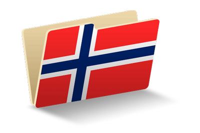 ノルウェー王国の国旗-フォルダ