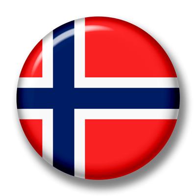 ノルウェー王国の国旗-缶バッジ