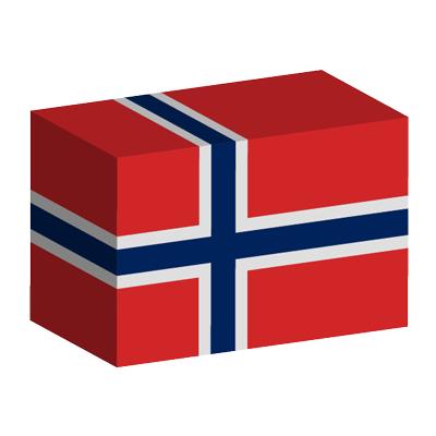 ノルウェー王国の国旗-積み木