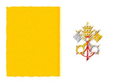 バチカン市国の国旗-パステル