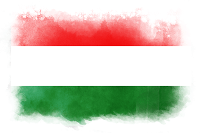 ハンガリーの国旗-水彩風