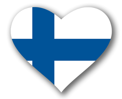 フィンランド共和国の国旗-ハート