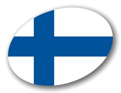 フィンランド共和国の国旗-楕円