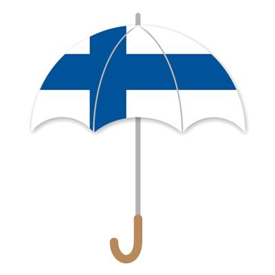 フィンランド共和国の国旗-傘
