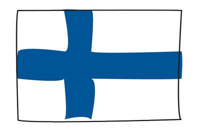 フィンランド共和国の国旗-グラフィティ