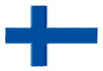 フィンランド共和国の国旗-パステル