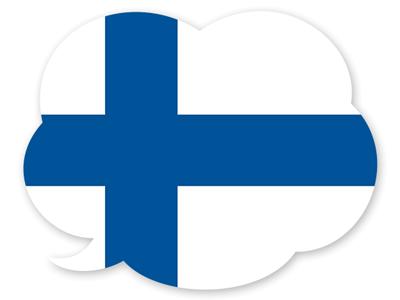 フィンランド共和国の国旗-吹き出し
