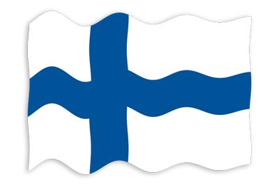 フィンランド共和国の国旗-波