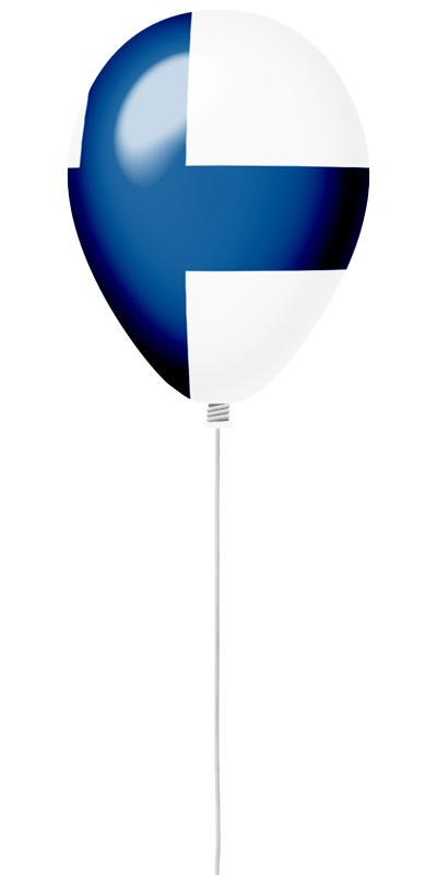 フィンランド共和国の国旗-風せん