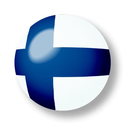 フィンランド共和国の国旗-ビー玉