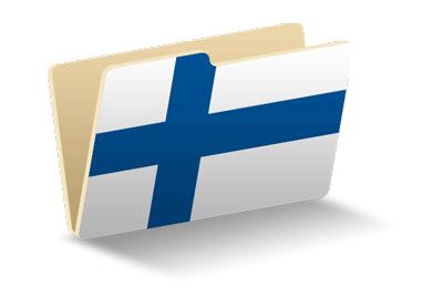 フィンランド共和国の国旗-フォルダ