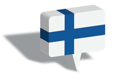 フィンランド共和国の国旗-マップピン