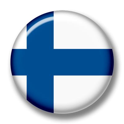 フィンランド共和国の国旗-缶バッジ