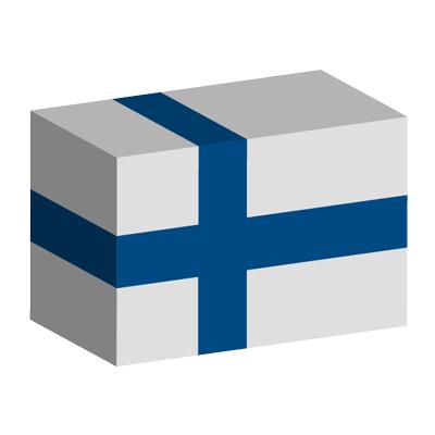 フィンランド共和国の国旗-積み木