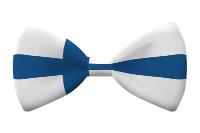 フィンランド共和国の国旗-蝶タイ