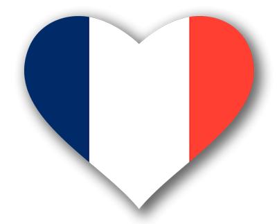 フランス共和国の国旗-ハート