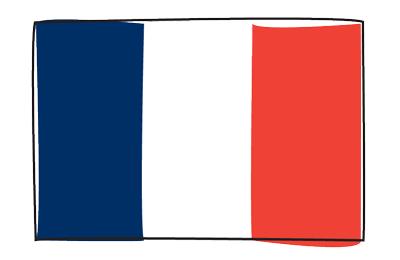 フランス共和国の国旗-グラフィティ