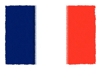 フランス共和国の国旗-パステル