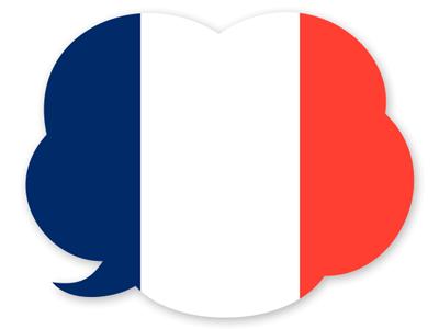 フランス共和国の国旗-吹き出し