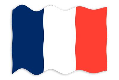 フランス共和国の国旗-波