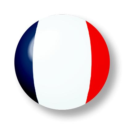 フランス共和国の国旗-ビー玉