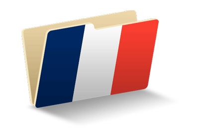 フランス共和国の国旗-フォルダ