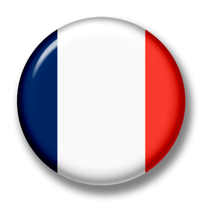 フランス共和国の国旗-缶バッジ