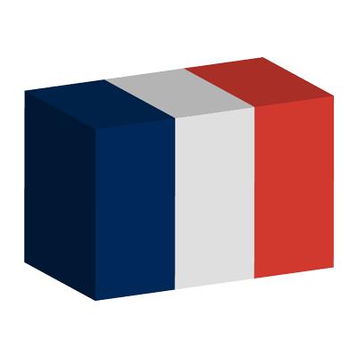 フランス共和国の国旗-積み木