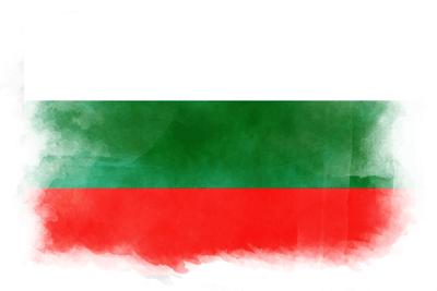 ブルガリア共和国の国旗-水彩風