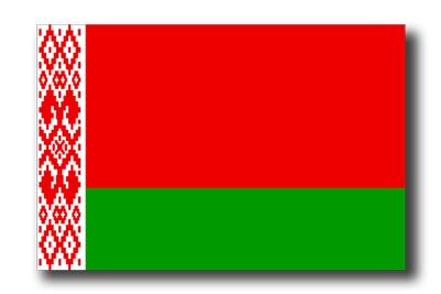 ベラルーシ共和国の国旗-ドロップシャドウ