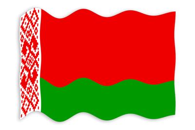ベラルーシ共和国の国旗-波