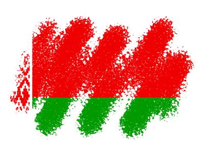 ベラルーシ共和国の国旗-クレヨン1