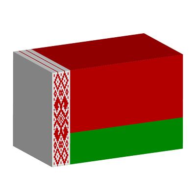 ベラルーシ共和国の国旗-積み木