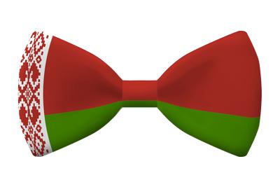 ベラルーシ共和国の国旗-蝶タイ