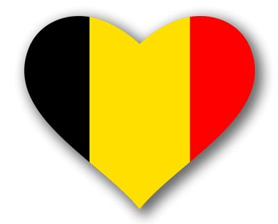 ベルギー王国の国旗-ハート
