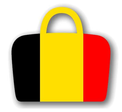 ベルギー王国の国旗-バッグ