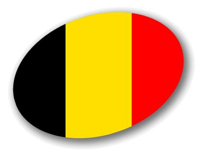 ベルギー王国の国旗-楕円