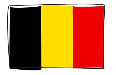 ベルギー王国の国旗-グラフィティ