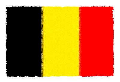 ベルギー王国の国旗-パステル