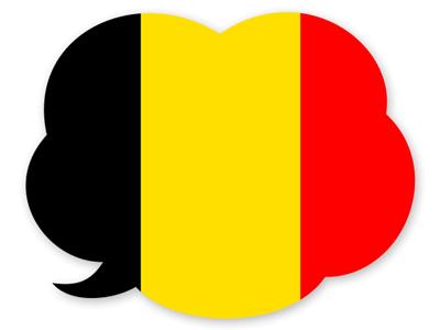 ベルギー王国の国旗-吹き出し