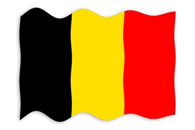ベルギー王国の国旗-波