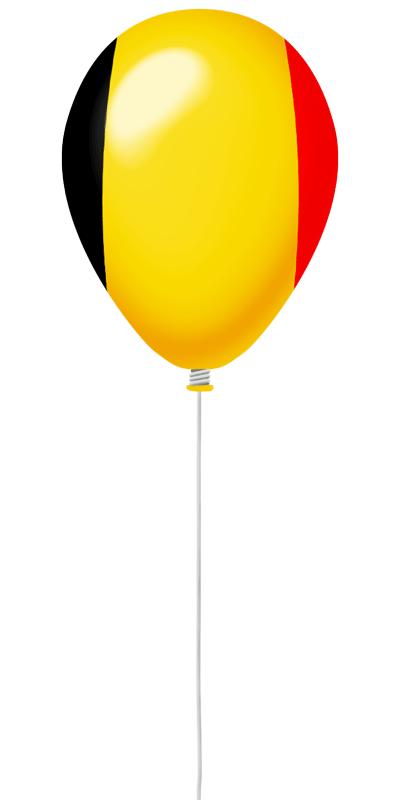 ベルギー王国の国旗-風せん