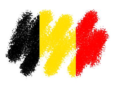 ベルギー王国の国旗-クレヨン1