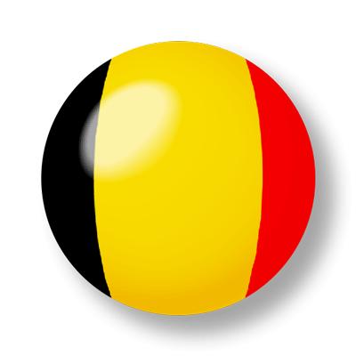 ベルギー王国の国旗-ビー玉