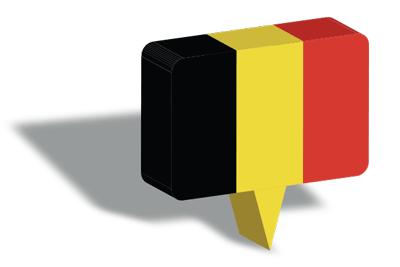 ベルギー王国の国旗-マップピン