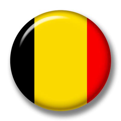 ベルギー王国の国旗-缶バッジ