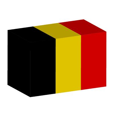 ベルギー王国の国旗-積み木