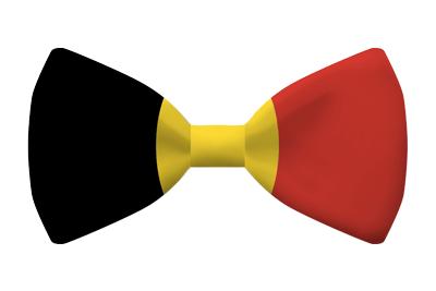 ベルギー王国の国旗-蝶タイ