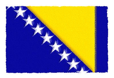 ボスニア・ヘルツェゴビナの国旗-パステル